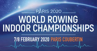 Les championnats du monde d'aviron indoor auront lieu à paris les 7 & 8 février 2020
